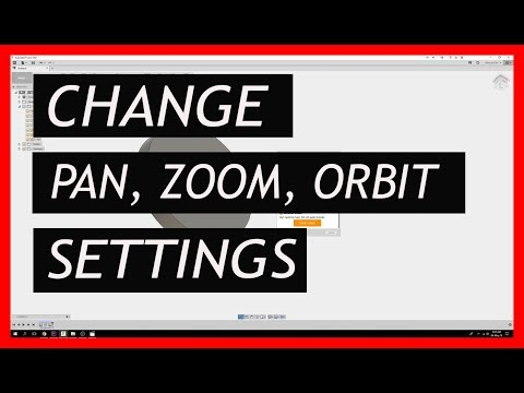 Fusion 360 - Pan, Zoom, Orbit (Rotate) Settings