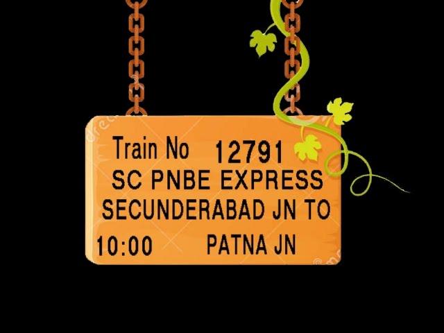 Train no  12791 TRAIN NAME SC PNBE EXPRESS   SECUNDERABAD JN   KAZIPET JN   PEDDAPALLI