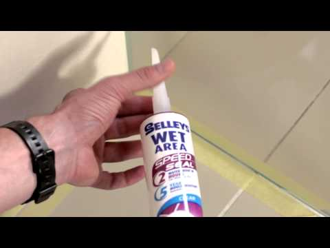 How to seal the inside of a shower