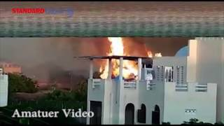 EXCLUSIVE: Diani Beach Hotel goes up in flames as residents and Tourist watch helplessly