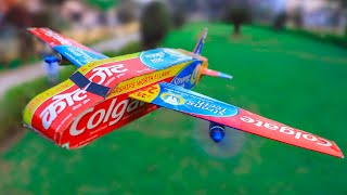 How to Make an Airplane from Colgate | Amazing DIY Toys