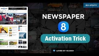 NewsPaper 8 WordPress Theme Free Activation Tutorial | Live Demo