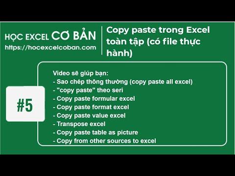 Học Excel cơ bản | #5  Sao chép cắt dán, copy paste Excel