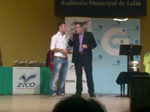 Iago Iglesias recoge el premio Galicia en Goles