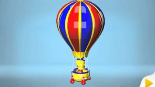 Big Trucks & Vehicles. 3d Power Balloon: Kids Build And Play Mobile App Games Demo (построить джип)
