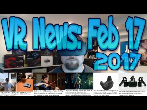 VR News Feb 17: HTC Ups Trackers to Devs to 2300 from 1000 - Daydream Tracking Hack & More!