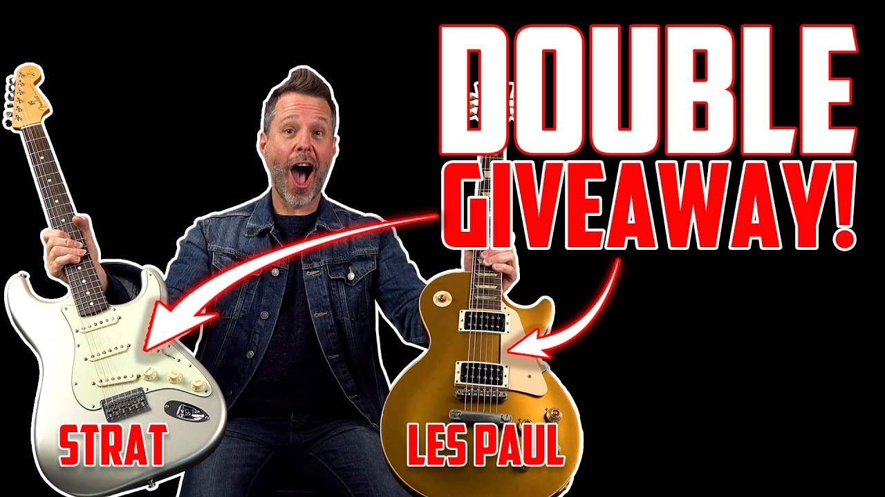 Double Guitar GIVEAWAY 🎸🎸 + How To Break Down a Song or Solo (Free Live  Webcast)