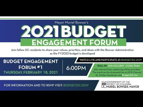 Mayor Muriel Bowser's 2021 Budget Engagement Forum | 202DC