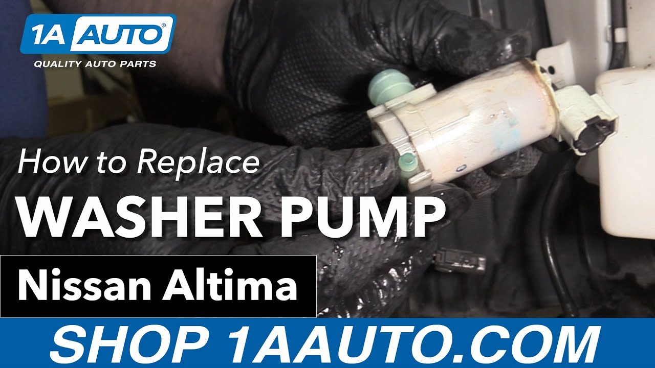 How To Replace Washer Fluid Pump 02 06 Nissan Altima Youtube Fuse Box Translation