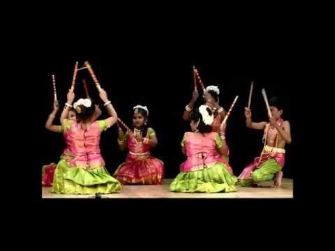 Kolattam (Folk Dance) by students at 5th Annual Concert of Aradhana School of Dancing