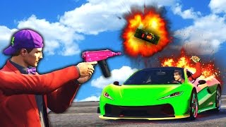 SHOOTING A STICKY BOMB MID-AIR! (GTA 5 Funny Moments)