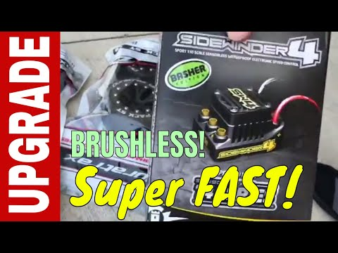 Super Fast Castle Creations Sidewinder 4 Brushless upgrade on brushed rustler