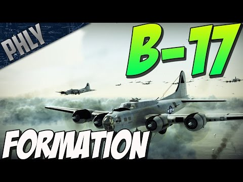 FLYING FORTRESS BOMBER FORMATION (War Thunder Bomber Gameplay)