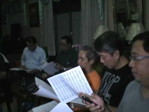 PASKO NA SINTA KO - raw rehearsal video by the UP Concert Chorus Alumni