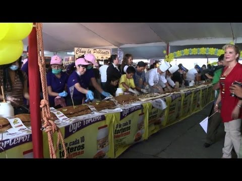 Mexico détient le record du plus long sandwich du monde