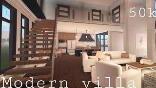 Bloxburg   Modern Villa 50k   House Build