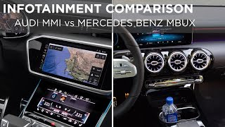 Infotainment Comparison | Audi MMI vs Mercedes Benz MBUX | Driving.ca