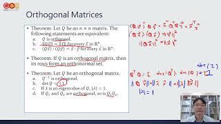 Lec60 應用數學-線性代數 Orthogonal Matrices、Orthogonal Complements