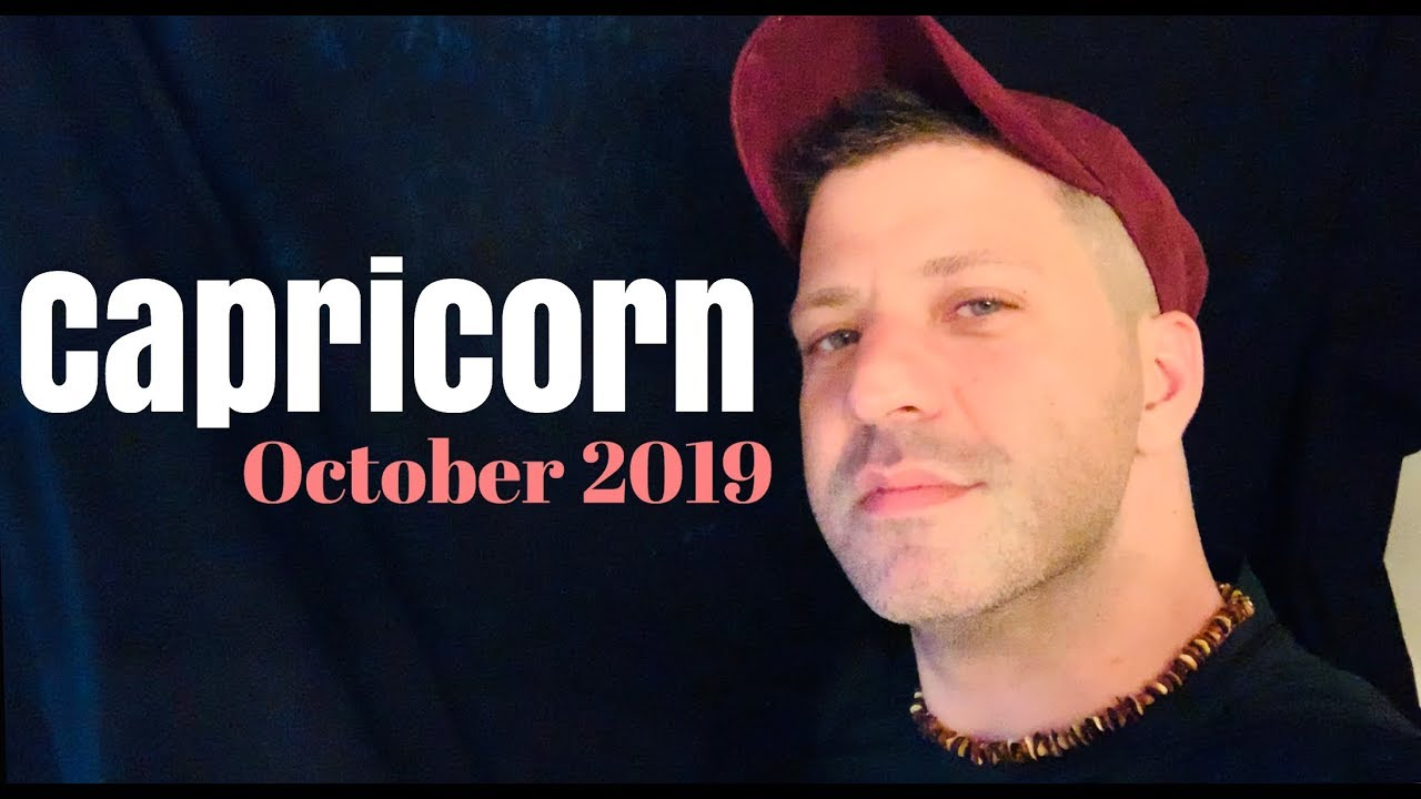 capricorn horoscope week of october 29 2019