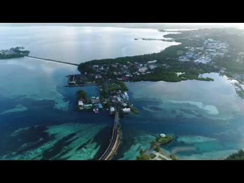 Drone Flyover of Koror Palau Town Center