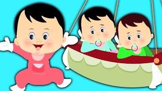 Fünf Kleine Babys | Kleinkinder Lieder Sammlung | Reime in Deutsch | Five Little Babies