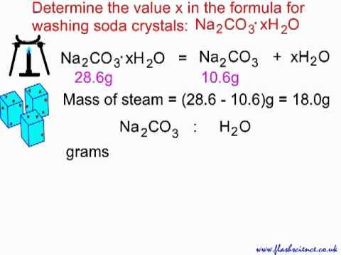 Reacting Mass Calculation: Water Of Crystallisation.