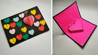 How To Make 3D Greeting Card - Paper Work - Creative Handmade Birthday Card Ideas