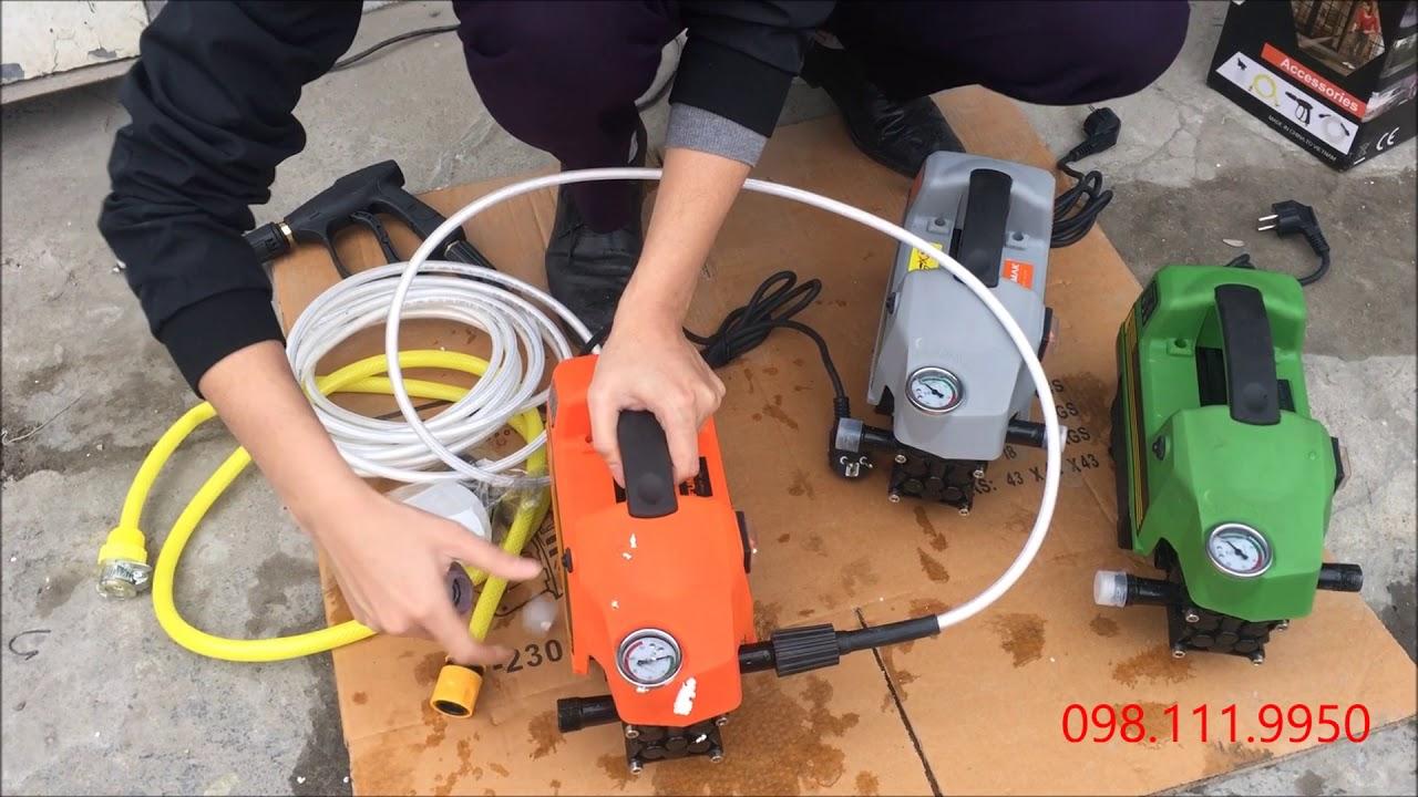 Máy rửa xe áp lực cao F184, F186, F189 Fumak - YouTube