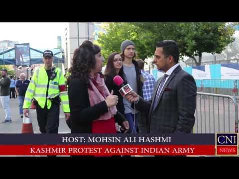PROTEST AGAINST INDIA'S HUMAN RIGHTS VIOLATIONS IN KASHMIR LIVE COVERED BY CNINEWS