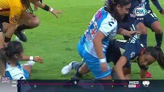 Pelea Semifinal Pachuca vs América Liga Mx Femenil