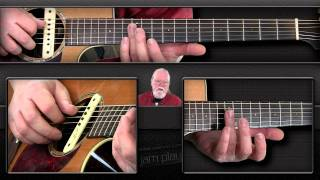 Bluegrass Flatpicking Guitar Lesson - Over the Waterfall