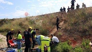 Laborioso rescate de un hombre tras caer en un torrente de Palma