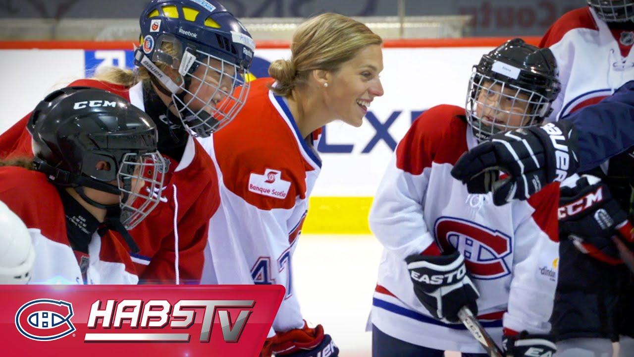Le camp de hockey f minin des canadiens youtube - Image hockey canadien ...