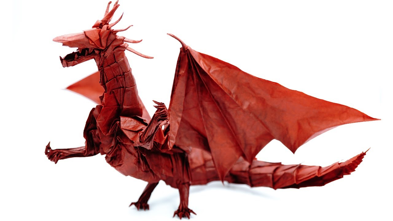 How to make an origami Fiery Dragon v.2 (Kade Chan) - YouTube | 720x1280