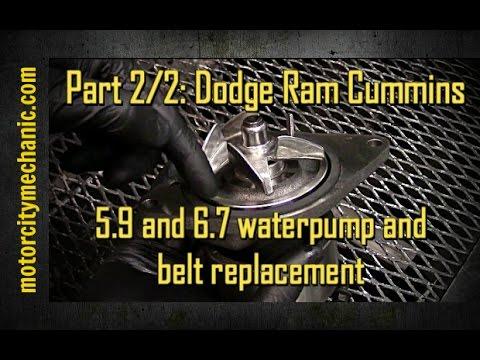 Part 2/2 Dodge Ram Cummins 59 and 67 waterpump and belt