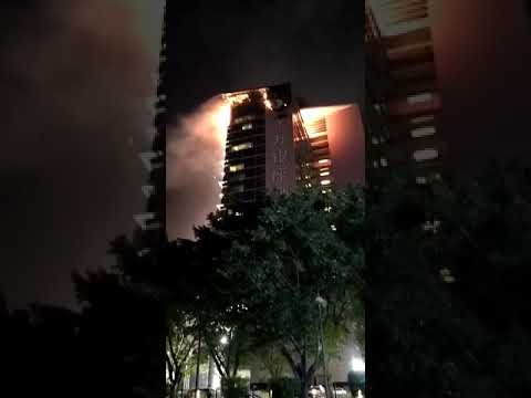 Shenzhen Oriental Ginza Hotel Grand Murecure caught on Fire