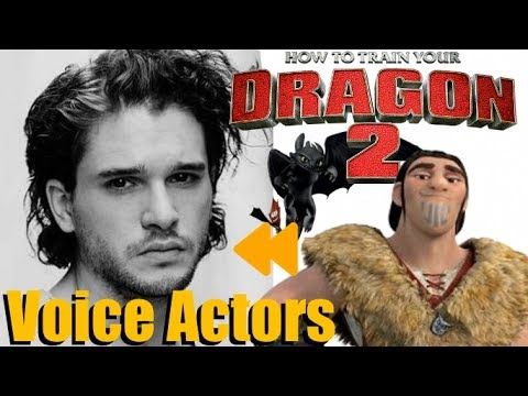 How To Train Your Dragon 2 Voice Actors And Characters Youtube