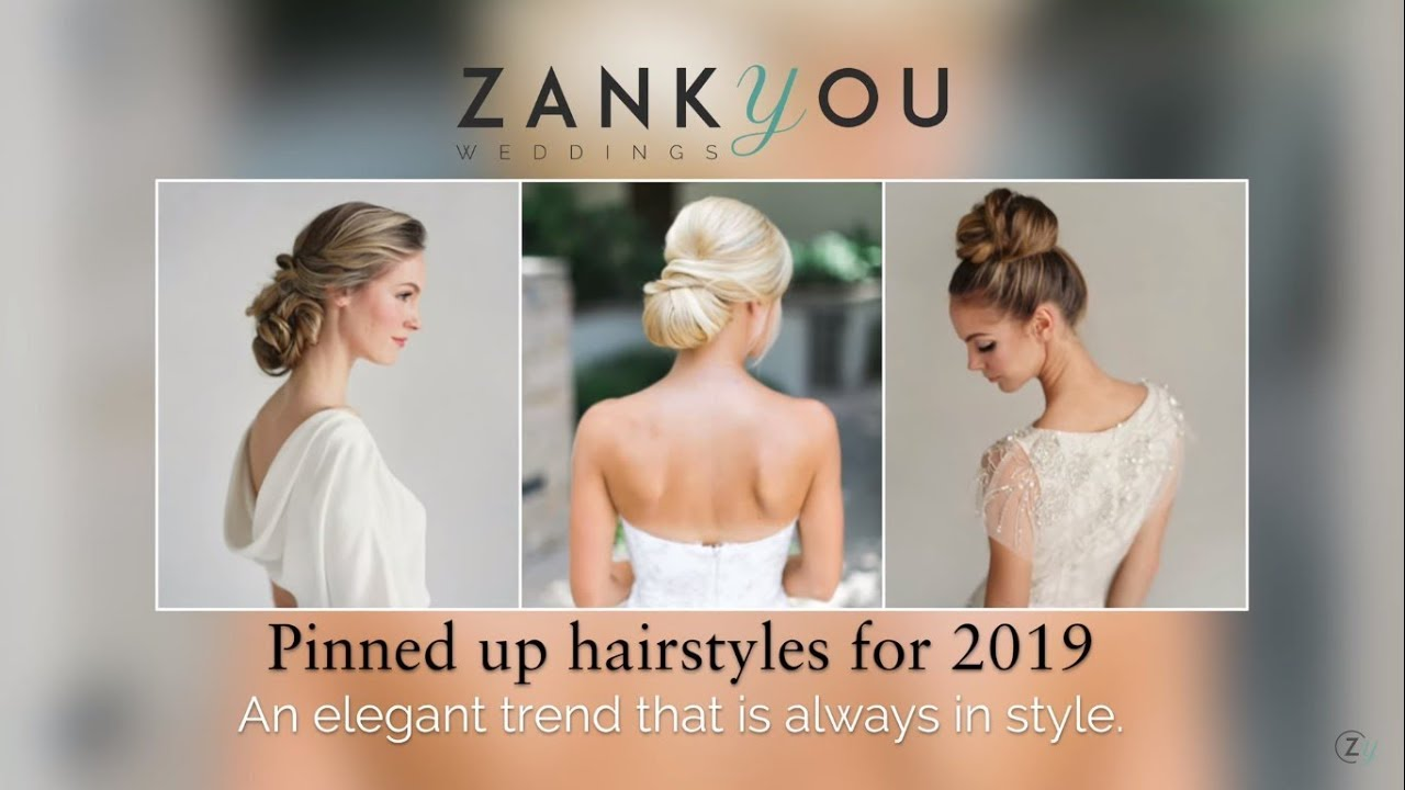 Bridal Hairstyles Top 5 Updo Trends For 2019 Youtube