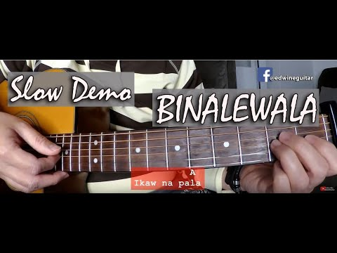 Binalewala (Michael Libranda) SLOW DEMO Fingerstyle Guitar Cover With Chords