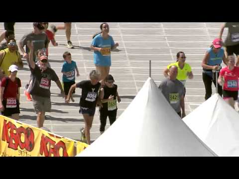 2014 BolderBOULDER - Frank Shorter Crosses Finish Line