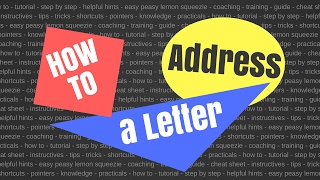 HOW TO ADDRESS A LEṪTER TO MAiL iN AMERiCA
