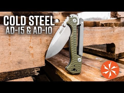 New Cold Steel AD-10 and AD-15 Now Available at KnifeCenter.com