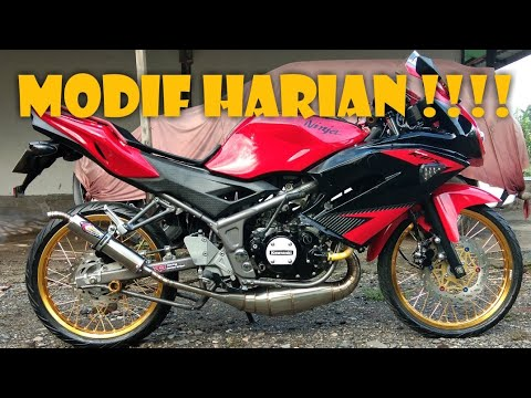 Ninja rr vlog 03# MODIF NINJA RR 150 CC BUAT HARIAN