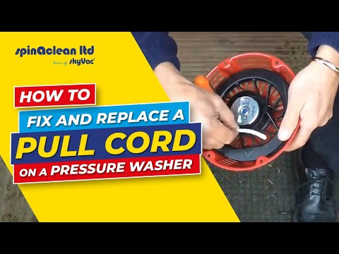 How to: Fix and Replace a Pull Cord on a Pressure Washer