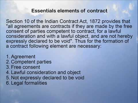 Formation Of Contract Youtube