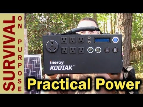 Inergy Kodiak Solar Generator - Off Grid Power For Emergencies or Not