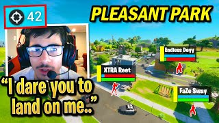 FaZe Sway SHUTS DOWN Everyone Who Lands Pleasant Park in SOLO ARENA!