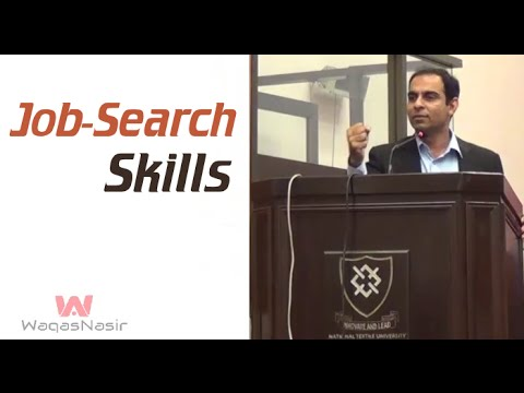 Job-Search Skills | Qasim Ali Shah | Urdu/Hindi | WaqasNasir