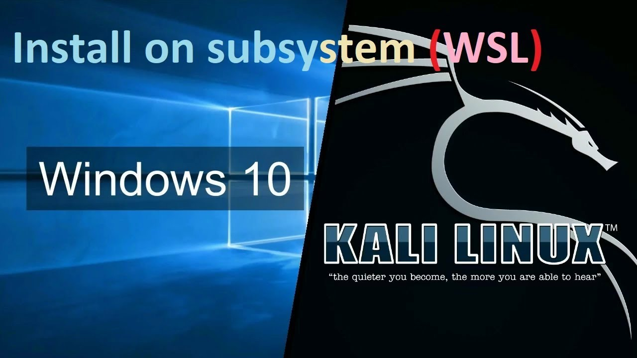 install Kali linux on windows subsystem GUI (NOT VM or Dual Boot)