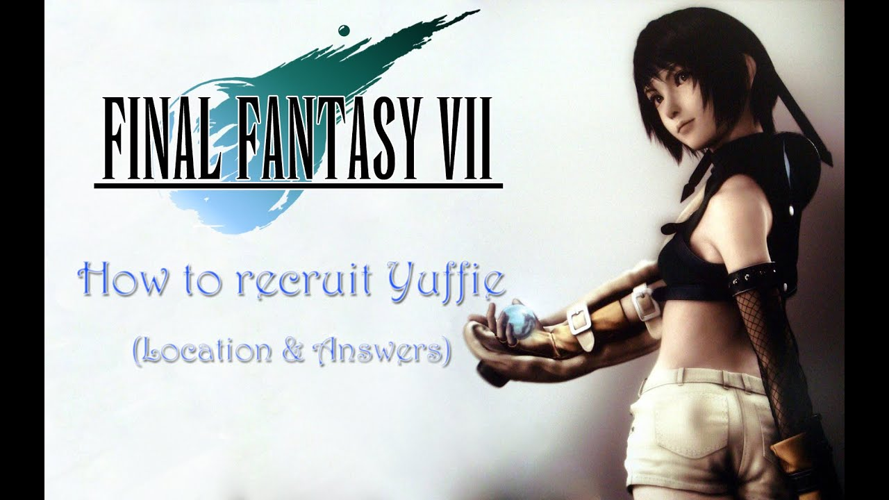 final fantasy vii ps pc how to recruit yuffie shuriken join final fantasy vii ps4 pc how to recruit yuffie shuriken join us trophy guide